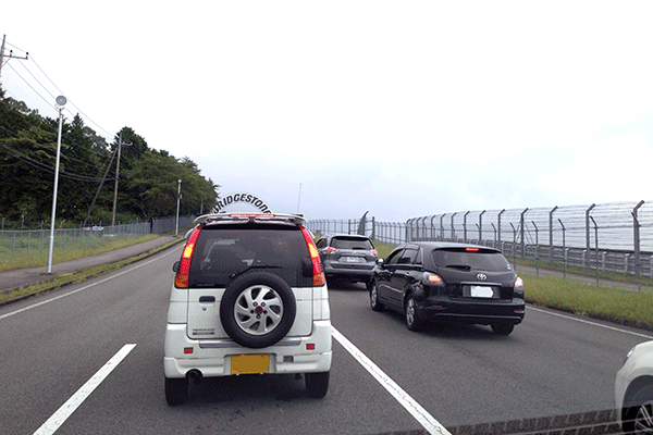 注意!富士チャレ渋滞