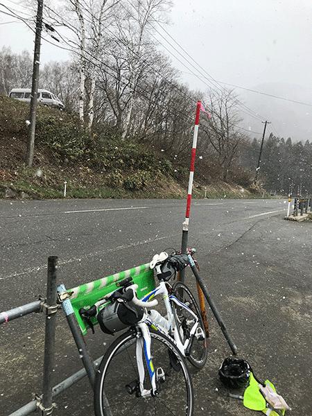 BRM427アタック日本海 雪の三国峠2