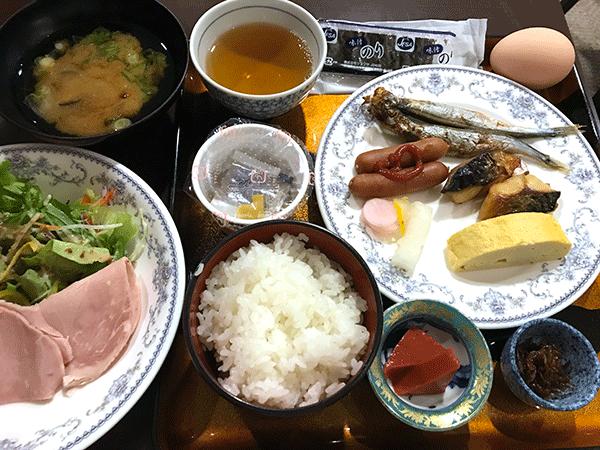 彦根でのホテル朝食